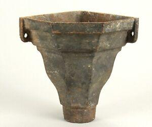 =Antique 1800's Victorian Cast Iron Corner Gutter Downspout Drain Pipe Hopper