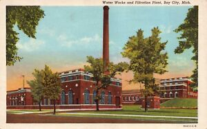 Postcard Water Works and Filtration Plant in Bay City, Michigan~119619
