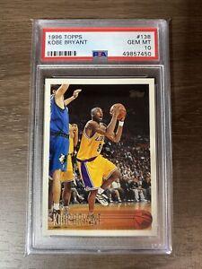 1996 Kobe Bryant Topps Rookie RC #138 PSA 10