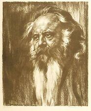 HERMANN BAHR - BILDNIS - Karl Bauer - Lithografie 1912