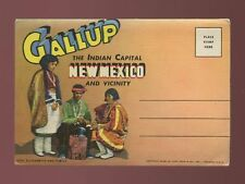 USA ethnic New Mexico GALLUP Indian Capital 16 picture booklet unused c1940/50s?