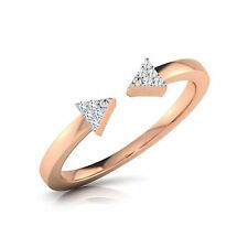 Sterling Silver White Adjustable Arrow Toe Ring 14K Rose Gold Over 925 Cz