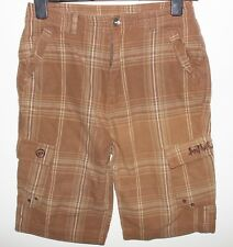ANIMAL Mens Brown Check Casual Shorts Size Large 28 Waist