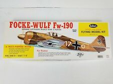 Vintage Focke-Wulf Fw-190 Balsa Model Airplane by Guillow's , Kit #406