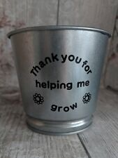 Personalised Teacher Thank You Gift, Help Me Grow Plant Pot teaching assistant