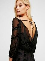 BNWT Free People Black Sybil Maxi Dress US8/ UK12 v. Witchy v. Olsen Twins