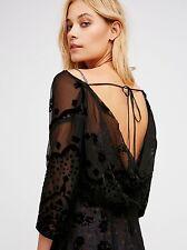 BNWT Free People Black Sybil Maxi Dress US8/ UK12