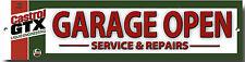 CASTROL GTX GARAGE OPEN SERVICE & REPAIRS METAL GARAGE SIGN.CLASSIC OILS