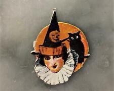 Vintage German Halloween Die Cut - Woman in Costume