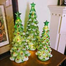 Lighted Mercury Glass Christmas Trees | Woodland | Farmhouse | Victorian | Art