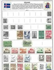 Small Used Iceland Collection On A Harris Album Page - SEE!!!