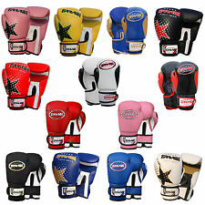 Kids Boxing Gloves MMA Muay Thai Junior Punch Bag Mitts White 6oz by Farabi