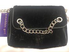 9b7f77937e5e Madden Girl Black Crushed Velvet Crossbody Handbag