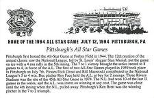 Pittsburgh Pennsylvania~All Star Games Description ~1994 Postcard