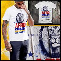 Afro Cuban T-Shirt Afro Latino Pride Cuba Afro Latin Lion Melanin Cotton Tee