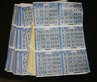 BINGO PAPER Cards 1 on u pick em pick 8 letter X instant 8 100 cards  FREE SHIP