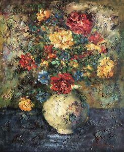 Floral In Vase, Original Oil Painting,50 x 60 cm