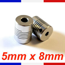 Coupleur 5x8mm Aluminium - coupler flexible Shaft 5 X 8 mm - Reprap France Cnc