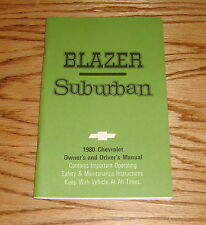 Original 1980 Chevrolet Blazer & Suburban Owners Operators Manual 80 Chevy
