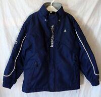 Boys Le Coq Sportif Navy Dark Blue Lightly Padded Broken Zip Coat Age 9-10 Years