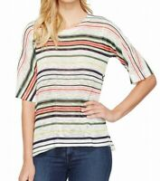 Nally & Millie Women's 241053 Multi Clothing Striped Knit Top Size L/XL