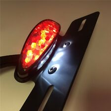Black Smoke LED License Plate Light Fender Eliminator For Harley Honda Yamaha Su