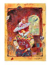 Sergey Kovrigo Original Watercolor Vintage Rare Lady Painting - Classic Story