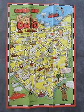 """VINTAGE 1950 CARTOON MAP OF OHIO BY BILL SKACEL 18"""" X 12"""" AART POSTER PRINT"""