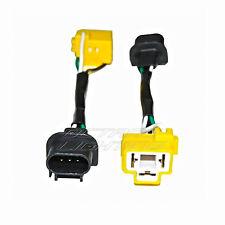 "76-15 Jeep Wrangler 7"" Light Bulb Headlight H4-H13 Wiring Conversion Plugs Pair"