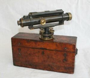 Antique Boxed Adie of London Surveyor's Theodolite c1900