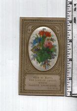 Antique Reward of Merit - Scarce Gold Ink Background w Floral Add-On