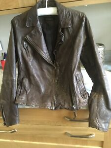 all saints leather jacket uk Size 12