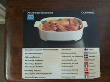 Vintage Corning Microwave Browners Instruction booklet.