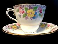 """Colclough"" Fine Bone China Tea Cup & Saucer Set - Made in England"