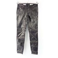RICH & ROYAL Damen Hose Jeans Gr W26 L34 Schwarz Metallic Skinny NP 149 NEU
