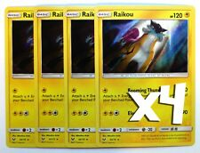 Pokemon: 2X Raikou 32/73 , Holo rare, NM-Mint Shining Legends, New