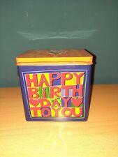 Blechdose - Spieluhr - happy Birthday