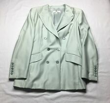 Escada Jacket Womens Ice Light Green Double Breasted Luxury Jacket 44 14