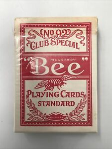 No. 9 Club Special Bee Standard Playing Cards Full Deck Made In U.S.A.