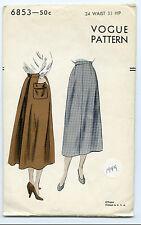 VOGUE 6853 WOMEN'S SKIRT 1949