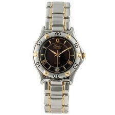 Men's Two-Tone Black Dial Stylish Round Dressy Style Watch - Analog & Quartz