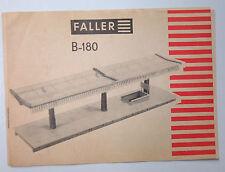 1/87ème HO  PLAN DE MONTAGE POUR KIT FALLER N° B-180