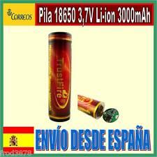 PILA RECARGABLE 18650 3000mAh Li-ion 3,7V TrustFire Litio Batería Protección