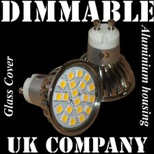 10 x GU10 - 20 SMD Dimmable 320 lm Warm White Replace  50/60W Spotlight lamps UK