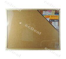 1 pcs Office Corkboard Message Notice Cork Board Wooden Frame & Hooks 45x60cm