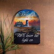 Lighthouse Welcome w LED lights Radiance Lighted Canvas 38326 NEW