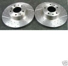 FOR MAZDA RX7 2.6TURBO FD BRAKE DISC CROSS DRILLED GROOVED BRAKE DISC FRONT
