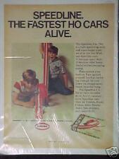 1968 AURORA SPEEDLINE FASTEST HO DRAG ALIVE & STUNT CARS BOYS KIDS RACER SET AD