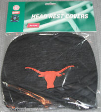 NCAA NWT HEAD REST COVERS -SET OF 2- TEXAS LONGHORNS