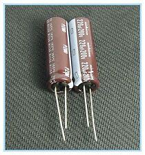(2pcs) 220uf 200v Nichicon Radial Electrolytic Capacitors PZ 200v220uf